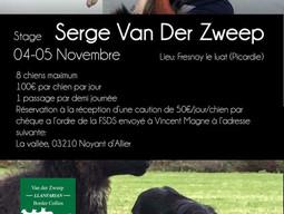 Stage avec Serge Van Der Zweep