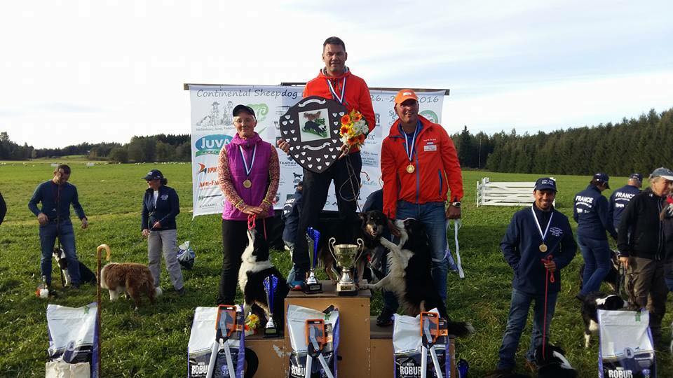 podium continental sheepdog trial 2016