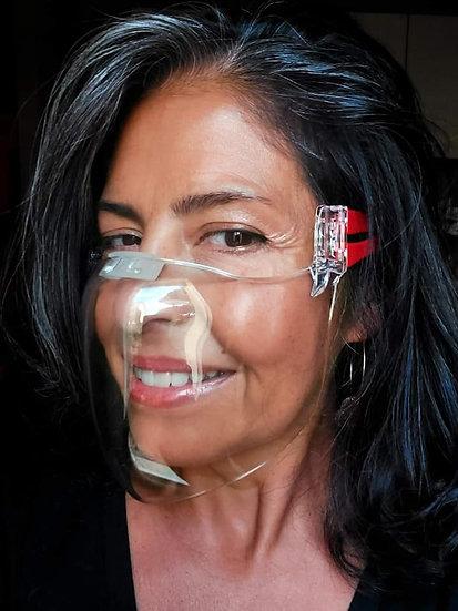 Pacchetto di 3 mascherine trasparenti certificate.