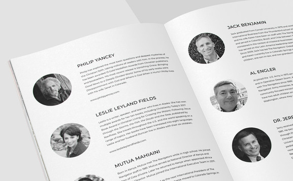 Conference Booklet - Speakers Page
