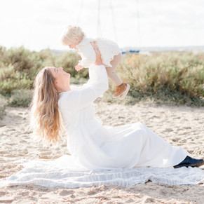 Mummy and Me beach session | Mersea beach