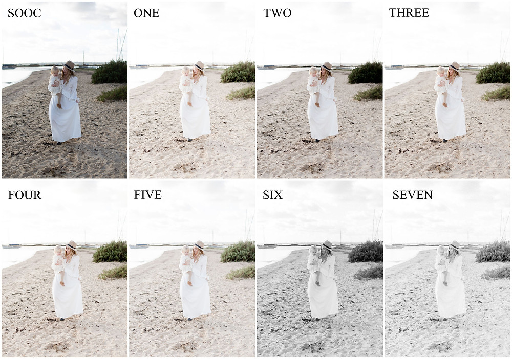 light and airy presets. film presets. White studio presets. outdoor light presets
