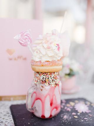 food photography unicorn milkshake freakshake