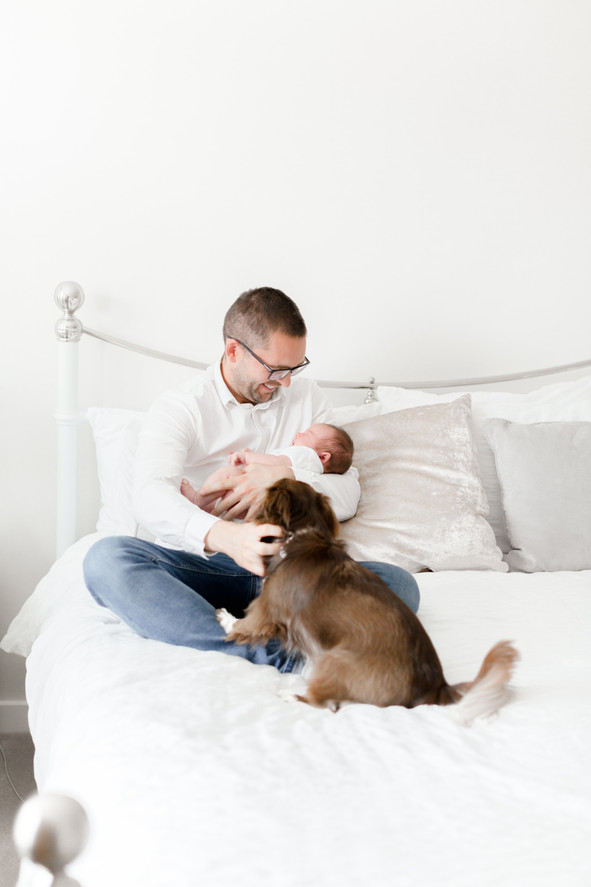 in home newborn lifestyle photo shoot