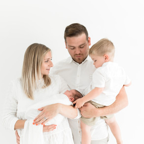 Un-posed newborn session plus older sibling | Essex baby photographer