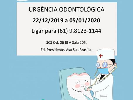 Urgência Odontológica dezembro 2019 e janeiro 2020