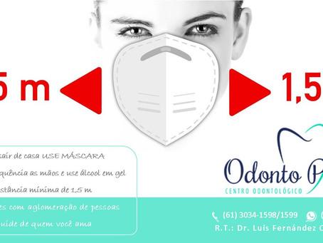 Uso obrigatório das máscaras de proteção facial a partir do dia 30 de abril no Distrito Federal
