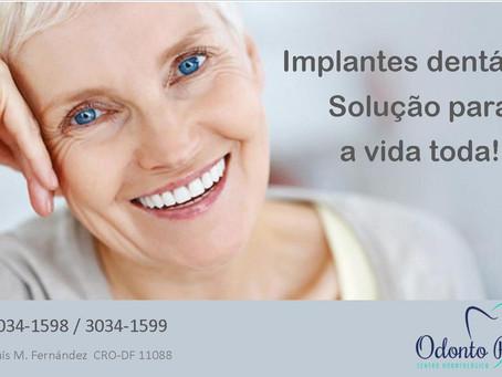 Implantes dentários, solução para a vida toda