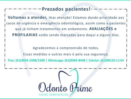 Atendimentos odontológicos durante a quarentena em Brasília