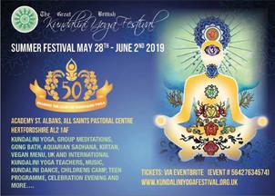Great British Kundalini Yoga Festival - Summer 2019