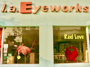 "LA Eyeworks Valentine's Window Display ""Reel Love"""