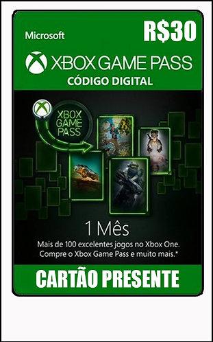 GIFT CARD - GAME PASS - 1 MÊS R$30