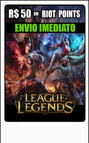 GIFT CARD - League of Legends - CARTÃO PRESENTE  CASH R$50
