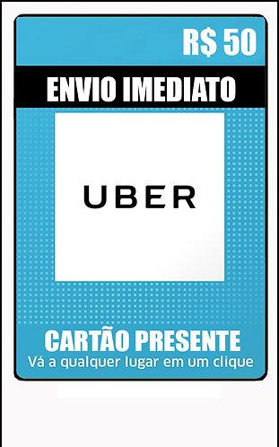GIFT CARD - UBER - CARTÃO PRESENTE  CASH R$50