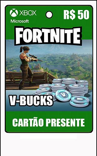 GIFT CARD - FORTNITE - CARTÃO PRESENTE  CASH R$50