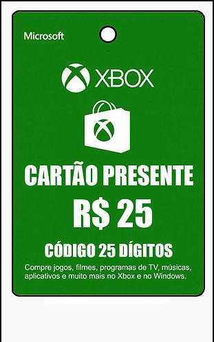 GIFT CARD - CARTÃO PRESENTE  CASH R$25