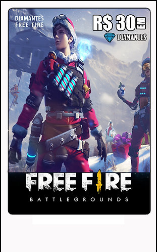 GIFT CARD - FREE FIRE R$30 em Diamantes