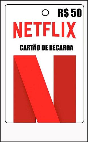 GIFT CARD - NETFLIX CARTÃO RECARGA R$ 50