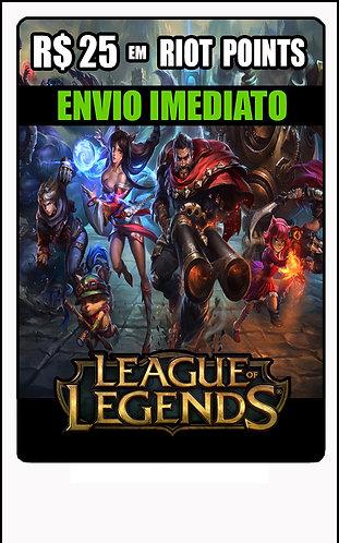 GIFT CARD - League of Legends - CARTÃO PRESENTE  CASH R$25