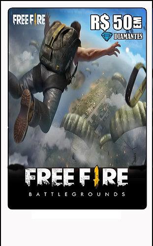 GIFT CARD - FREE FIRE R$50 em Diamantes