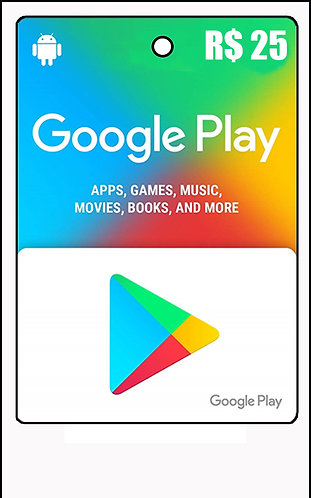 GIFT CARD - GOOGLE PLAY R$25,00