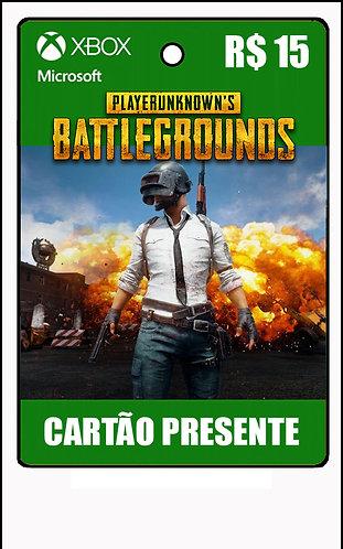 GIFT CARD - PUBG - CARTÃO PRESENTE  CASH R$15