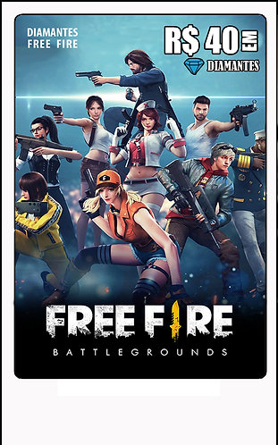 GIFT CARD - FREE FIRE R$40 em Diamantes