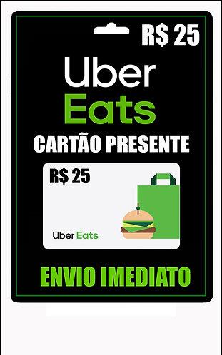GIFT CARD - UBER EAGETS - CARTÃO PRESENTE  CASH R$25