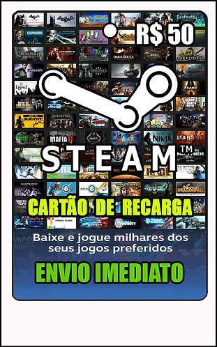 GIFT CARD - STEAM - CARTÃO PRESENTE  CASH R$50
