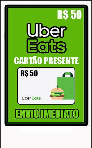 GIFT CARD - UBER EAGETS - CARTÃO PRESENTE  CASH R$50