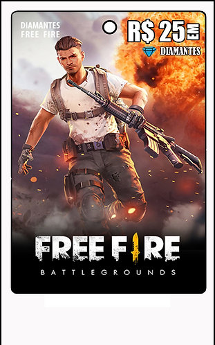 GIFT CARD - FREE FIRE R$25 em Diamantes