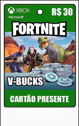 GIFT CARD - FORTNITE - CARTÃO PRESENTE  CASH R$30