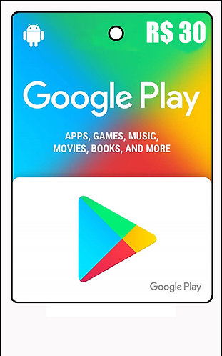 GIFT CARD - GOOGLE PLAY R$30,00