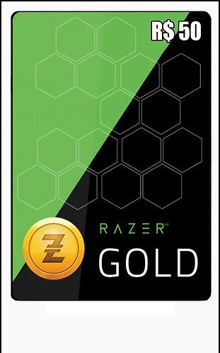 GIFT CARD - RAZER GOLD - CARTÃO PRESENTE  CASH R$50