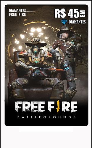 GIFT CARD - FREE FIRE R$45 em Diamantes