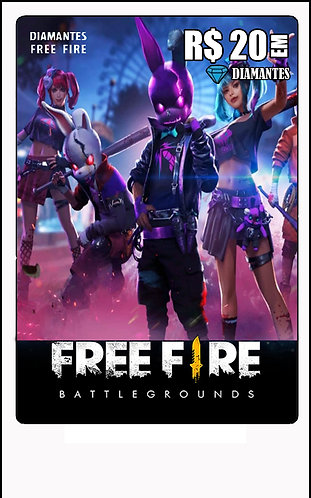 GIFT CARD - FREE FIRE R$20 em Diamantes