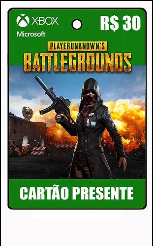 GIFT CARD - PUBG - CARTÃO PRESENTE  CASH R$30