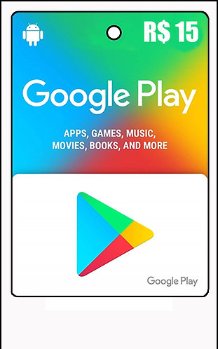 GIFT CARD - GOOGLE PLAY R$15,00