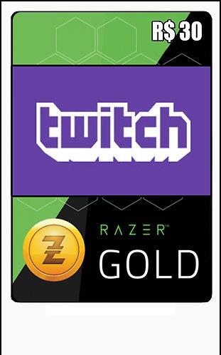 GIFT CARD - RAZER GOLD - CARTÃO PRESENTE  CASH R$30