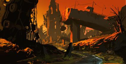 """Orange"" Enviroment Concept by Wei Wang"