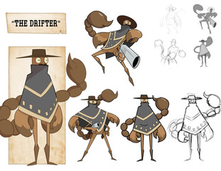 """""""The Drifter"""" Charater Design by Adrian C."""