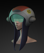 """Helmet"" 3D Model by J. Camit"