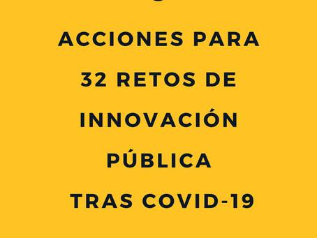 Ideas concretas para 32 retos de innovación pública post COVID-19