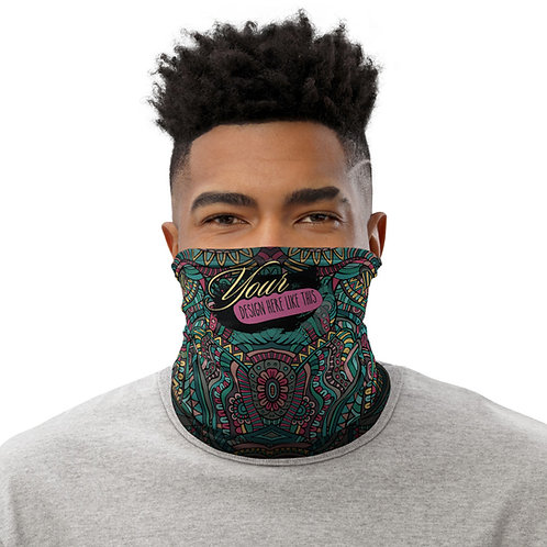 Neck Gaiter Custom  All-Over Dark