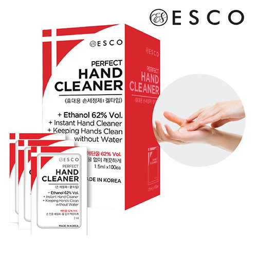 62% Ethanol Perfect Hand Cleaner - 1 Box of 20 Pouches