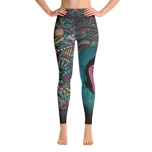 Yoga Leggings Custom All-Over Dark