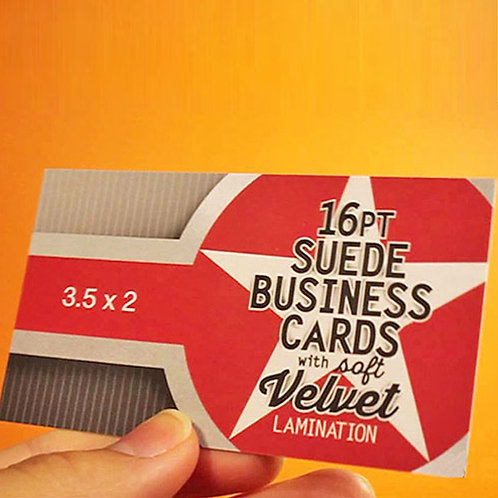 Business Card - Suede