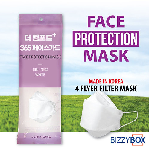Face Protection Filtered 4 Ply Mask