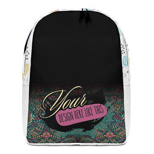 Minimalist Backpack Custom All-Over