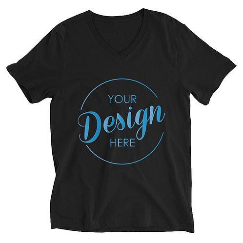 Unisex SS V-Neck T-Shirt Custom One-Side Printing